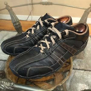Skechers Leather Bicycle Toe Driving Oxford Sz 10